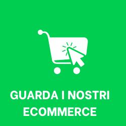 carrello ecommerce bianco su sfondo verde